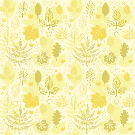 Decorative seamless background pattern with autumn leaves Vector