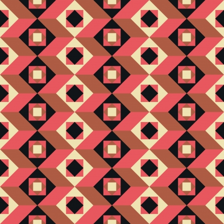 Geometrical abstract seamless pattern retro style background Vector