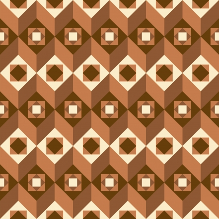 Geometrical seamless abstract pattern in brown Vector