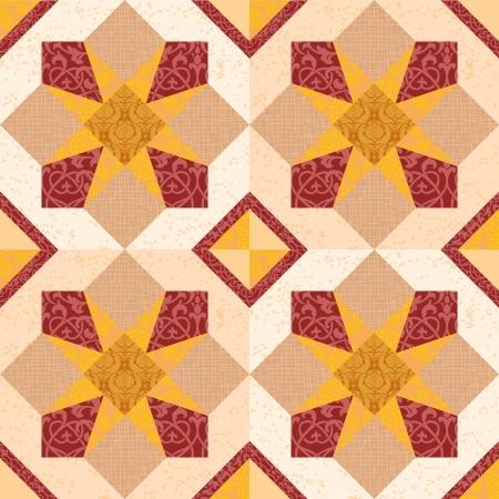 Keramische mozaïek tegels naadloze ornament met sterren