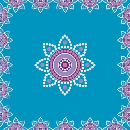 floral pattern motif: Decorative ornamental ethnic background