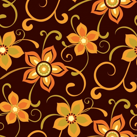 Floral pattern, seamless background with decorative flowers