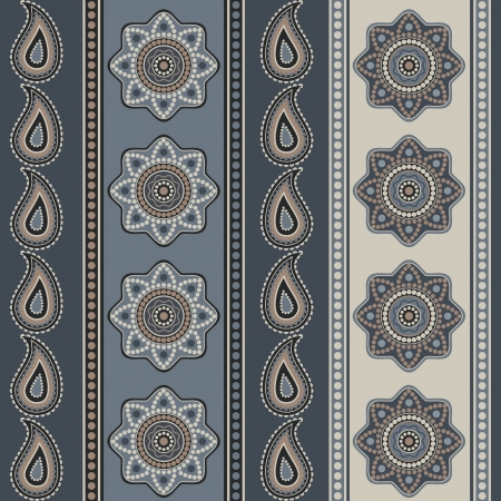 Ornamental seamless wallpaper with decorative ethnic elements Stock Vector - 15067831