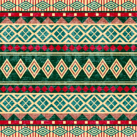 Abstract geometric pattern african style photo