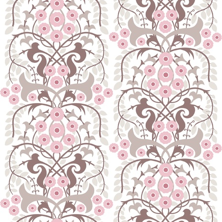 Classic vintage seamless floral wallpaper, decorative illustration Vector