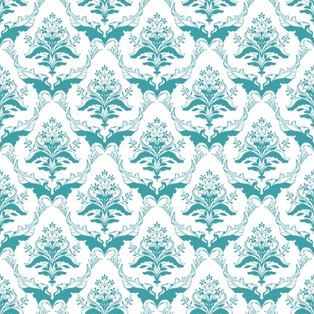 Seamless floral pattern; ornamental damask classic wallpaper Vector