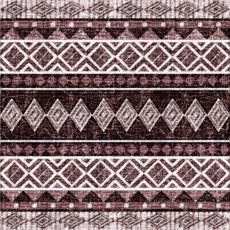 Geometrical seamless ornamental pattern on fabric in ethnic style photo