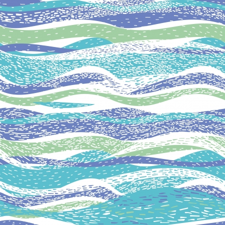 linocut: Abstract hand-drawn pattern, background with waves