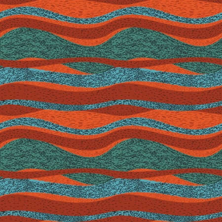 multy: Multy colored waves, abstract seamless pattern Illustration