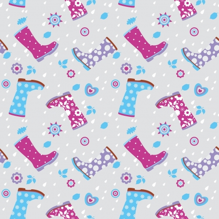 gumboots: Seamless pattern of gumboots Illustration