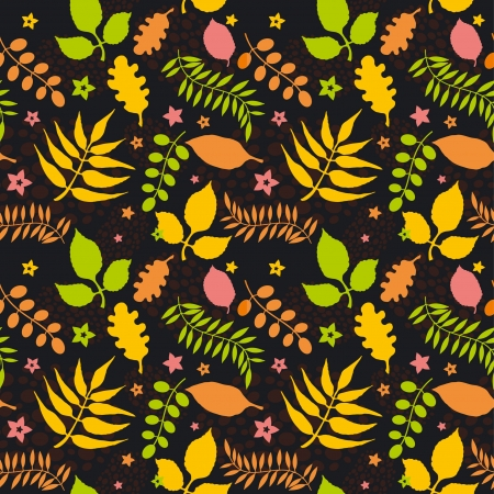 seamless pattern with colorful autumn leaves Stock Vector - 15349055