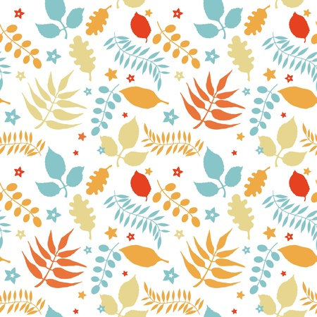 Seamless pattern with multy colored autumn leaves Stock Vector - 15349067