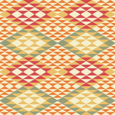 ikat: Abstract geometric seamless background in ethnic style Illustration
