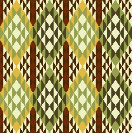 ikat: Ethnic style abstract geometric pattern
