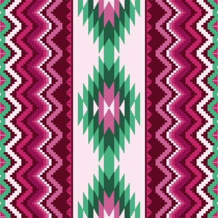 Ethnic textile seamless pattern with traditional ornamental motifs Vector