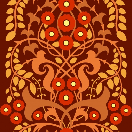 floral pattern motif: Flowering bush, decorative floral motif