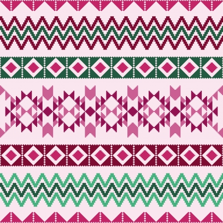 Geometric abstract pattern with ethnic motifs Vector