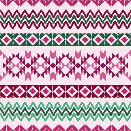 pullover: Geometrische abstrakte Muster mit ethnischen Motiven