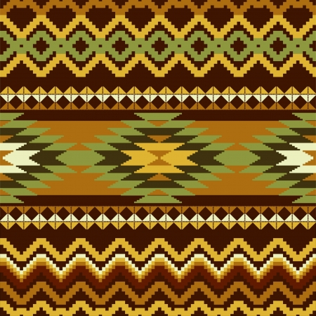 Geometric abstract seamless ornamental pattern in ethnic style Vector