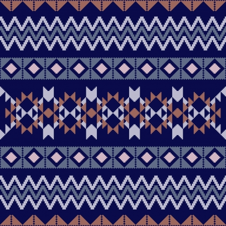 poncho: Geometric ornamental seamless pattern in ethnic style Illustration