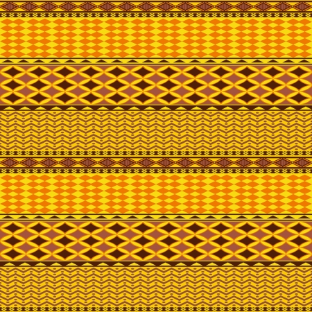 african culture: Abstract geometric seamless pattern in ethnic style Illustration