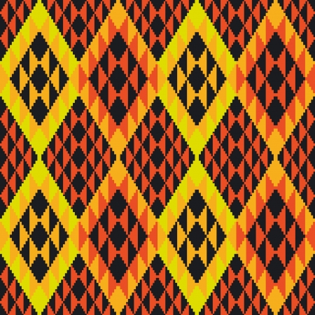 Abstract geometric seamless ornamental pattern