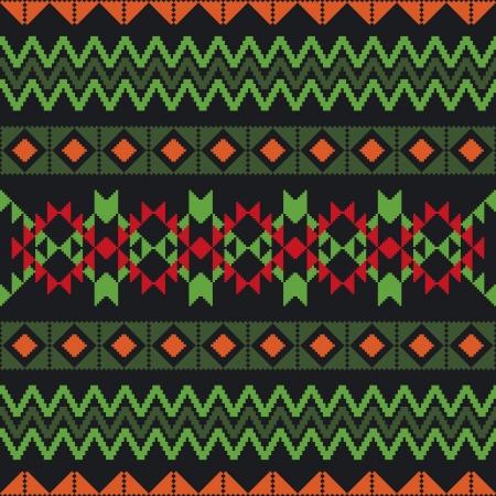 poncho: Patr�n geom�trico abstracto con motivos tradicionales �tnicos