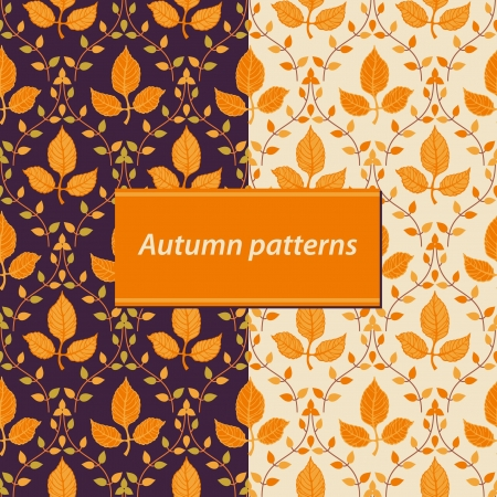 Seamless floral autumn background Vector