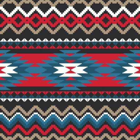 Folk ornamental textile seamless pattern