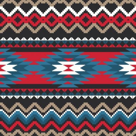 Motif textile sans couture d'ornement Folk