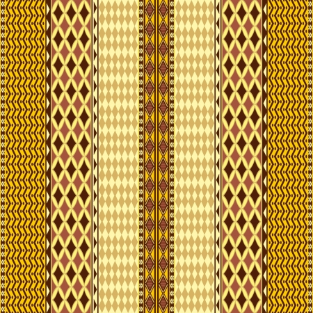Geometric abstract seamless pattern in ethnic style Vector