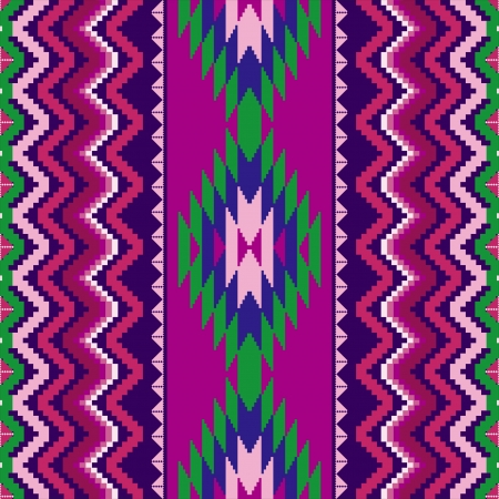 Geometric ethnic textile seamless pattern with traditional ornamental motifs Vector