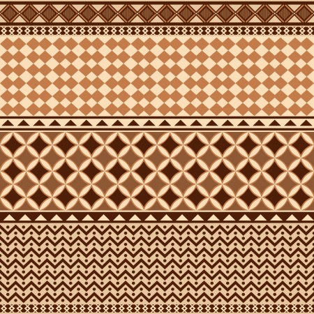 Geometrical ornamental pattern seamless texture african style Stock Vector - 15798621