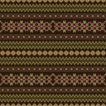 Geometric fabric striped seamless pattern in ethnic style Vector