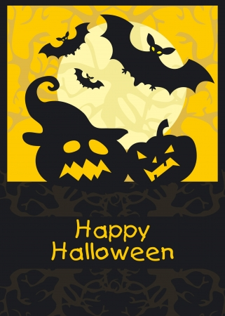 Happy halloween theme greeting card, vector background Stock Vector - 15910734