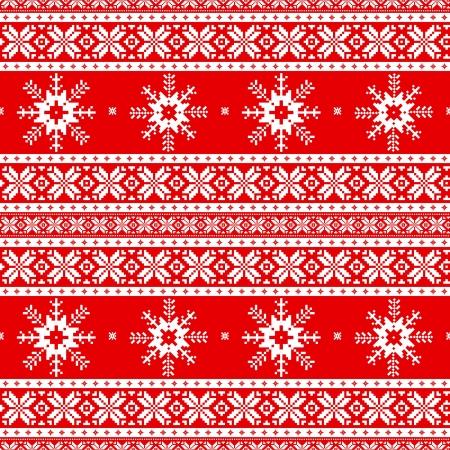 pullover: Traditionelle Weihnachten gestrickt ornamentalen Muster mit Schneeflocken