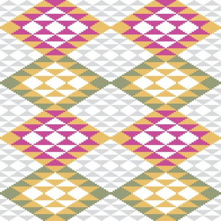 Abstract geometric pattern, ethnic style Vector