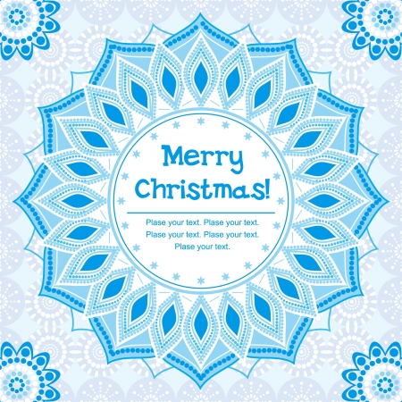 Christmas card, ornamental background with decorative snowflake Stock Vector - 16060304