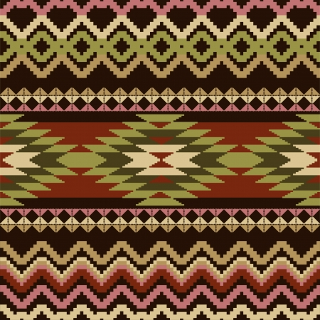 Ethnic geometric ornamental seamless pattern Vector