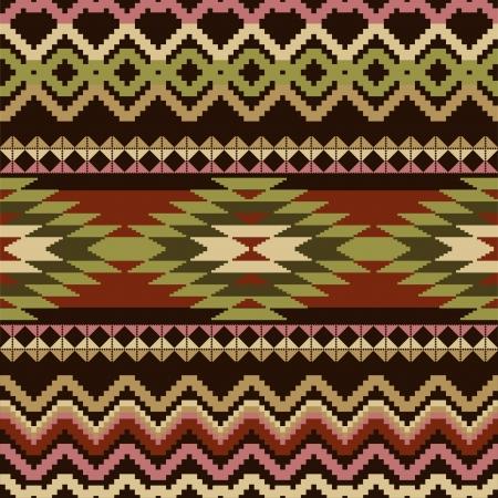 navajo: Ethnic geometric ornamental seamless pattern Illustration