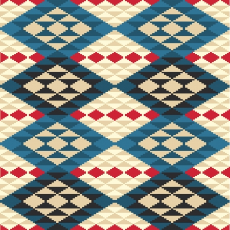 ikat: Abstract geometric seamless pattern in ethnic style Illustration