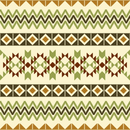 Abstract geometric textile ornamental pattern, ethnic style