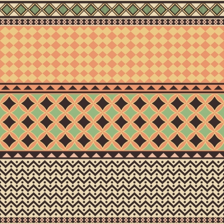 Tribal ornament, geometrical seamless texture Vector
