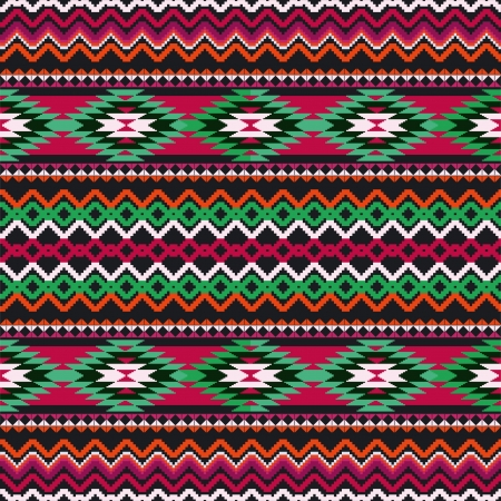 Geometric ethnic textile seamless ornamental background Vector