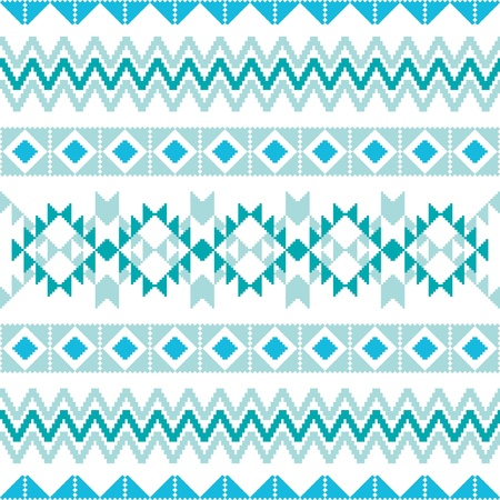 Knitted ornamental seamless background traditional winter motives Vector