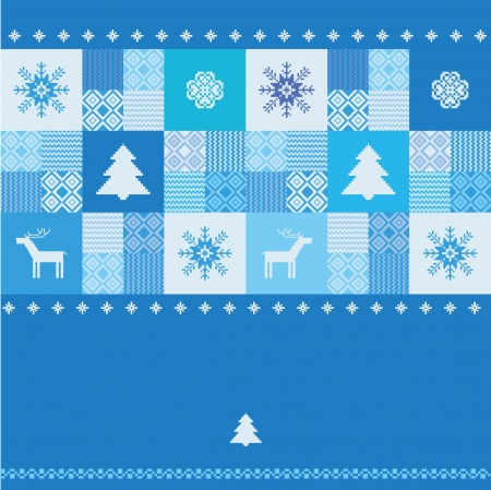 Template for design with christmas traditional motives Vector