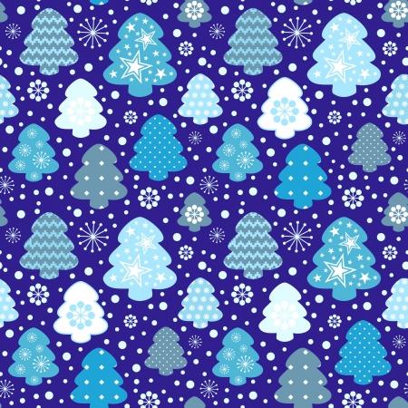 Winter trees seamless pattern Stock Vector - 16283566