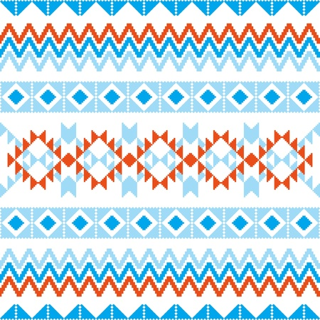 christmas motif: Abstract geometric pattern knitted ornamental seamless background Illustration
