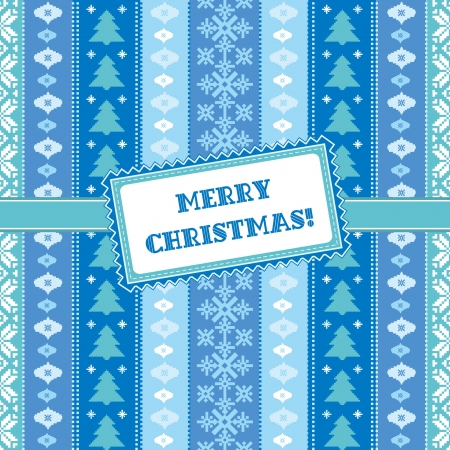 Christmas ornamental card Vector