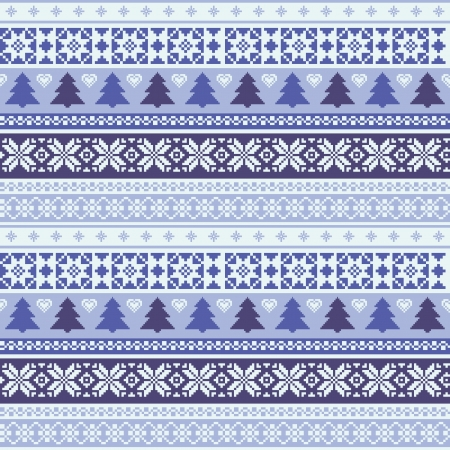 Christmas ornamental striped seamless background Vector